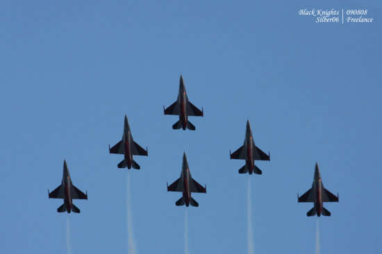 Singapore National Day Parade Black knights F16