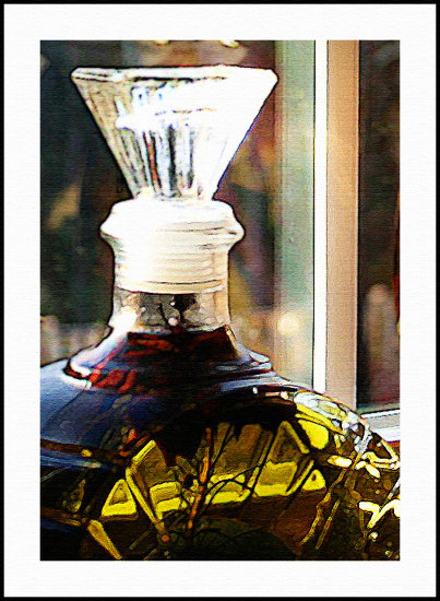 a decanter in my kitchen.....modified with PS