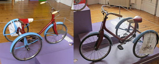 August 2012 - Summer Break   31. We went to to Hove Museum...my sister and I had a tricycle jus...