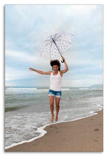 girl woman wife portrait fun umbrela spain beach barcelona