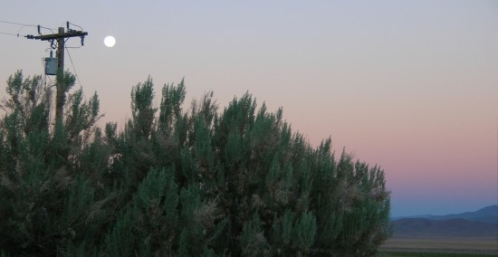 Moon set in the beautiful pink Belt of Venus, and the dark band is the earth's shadow