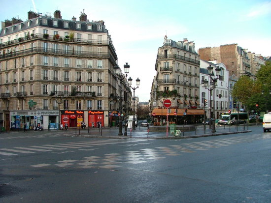 Paris morning street