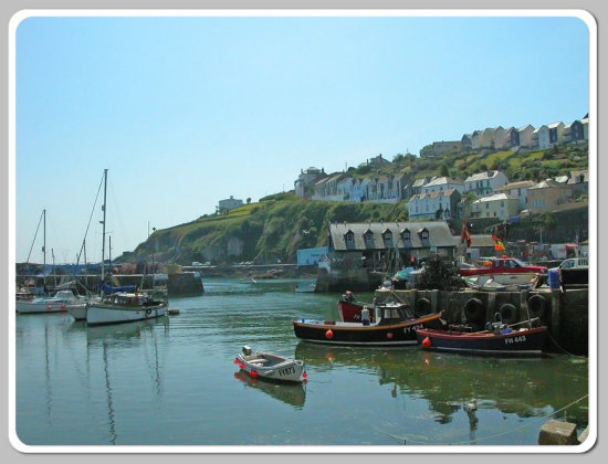 Mevagissey Sea Water Harbour Cornwall Boat Coast MMVI