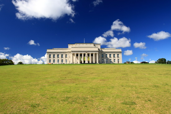 Another iconic Auckland view ...  Auckaland War Memorial Museum