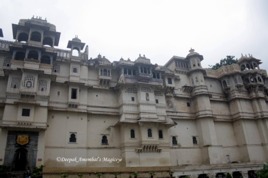 part city palace udaipur rajasthan india