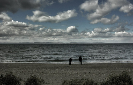 people water clouds sea forth of firth musselburgh scenery edinburgh
