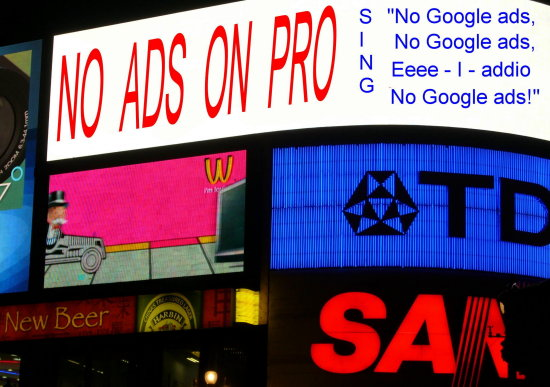 no ads on pro piccadilly circus london protest