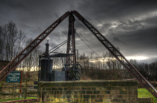 thwaite mill water steam yorkshire hdr