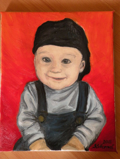 child baby boy babyboy painting