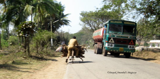 transport cycle truck karnataka dandeli