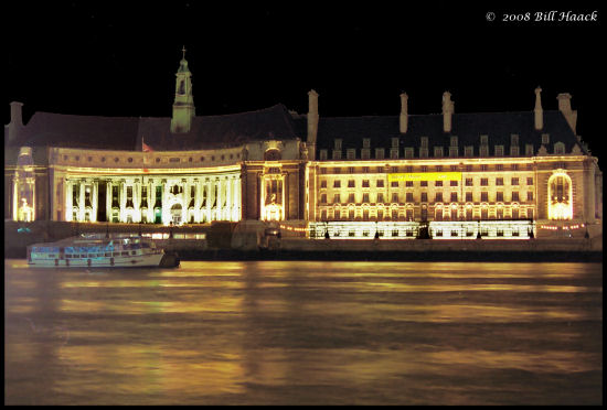 London England UK Thames night bh scanned 1994