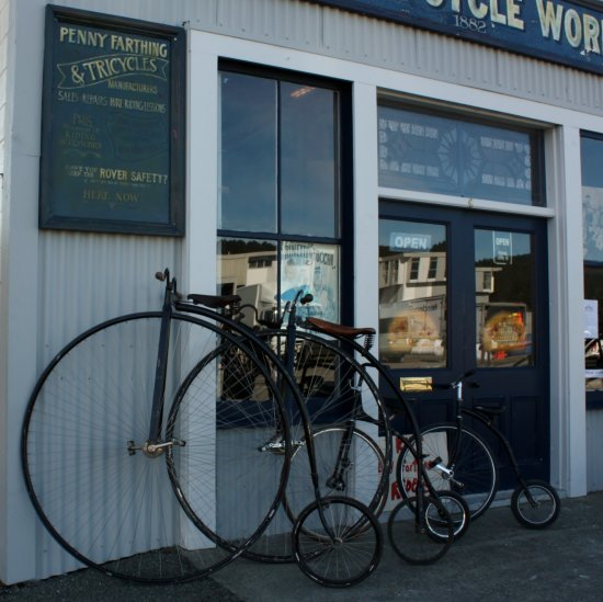 Some more of the bikes at the Oamaru historical precedent