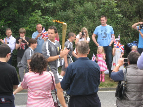Olympic Flame Toch Relay Procession Bletchingley Summer Games 2012 Surrey