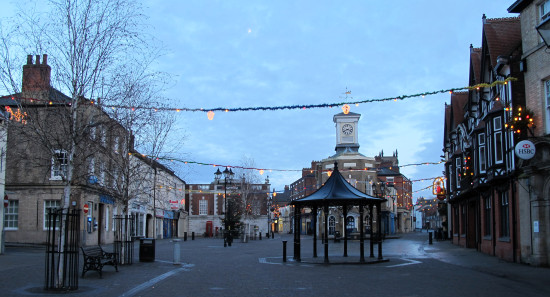 2. Brigg, N. Lincs - it's a really pretty little town. It was bank holiday Monday, dusk and freez...