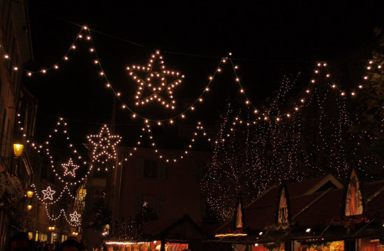 Xmas colmar lights alsace france stars