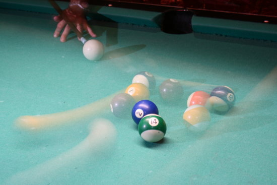 playing pool with a friends