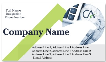 Business card best professional and corporate visiting card in less online visiting card for chartered accountant reheart Image collections