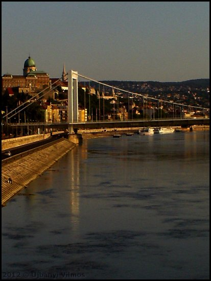 budapest danube river bridge elizabeth reflectionthursday