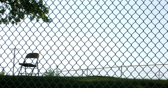 chair chainlink fence