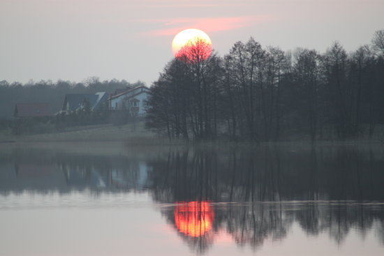 sunset in Poland Masury