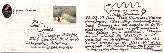 jesarchives jes archive jesse edwards mailart mail art
