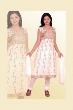 White Georgette Wedding Salwar Kameez _commercial