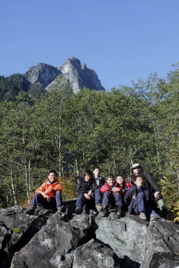 Scouts Marpole hiking GoldenEars camping backpacking BC Canada