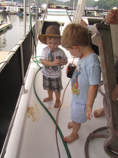 grandsons houseboat