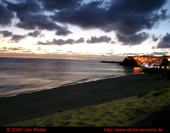 Fuerteventura sunset clouds sea ocean Morro Jable seaview Meerblick