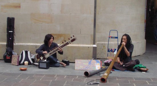 Japanese man didgeridoo busking travelling world perth littleollie