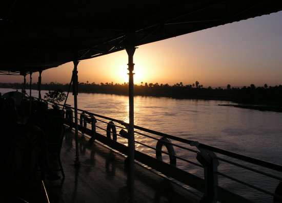 SUNSET AT THE NILE ABOARD THE M/S SUN SONESTA GODDESS