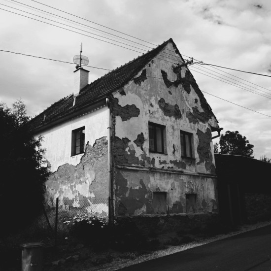monochrome village Bohemia