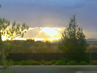 Sunny Shinning through the clouds
