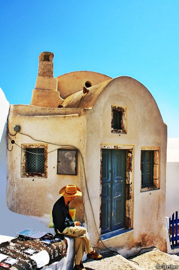 santorini architecture house seller archer