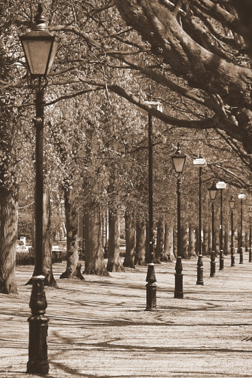 sepiafriday river walk great ouse bedford embankment street lamps