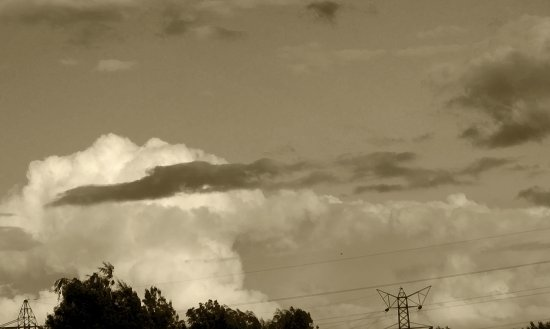 sky sepia clouds