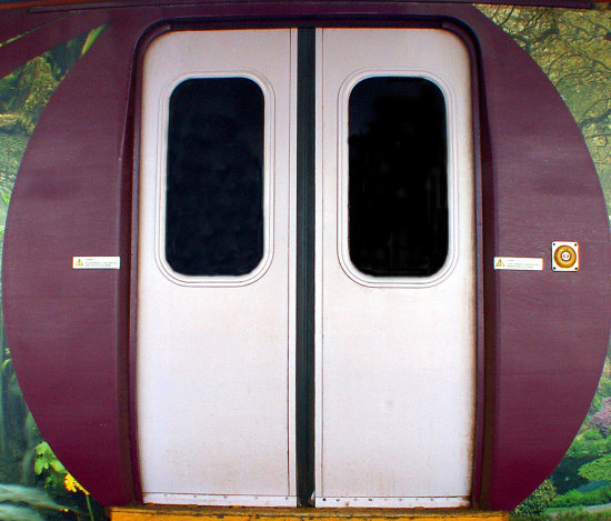 tube underground train metro subway door carriage abstract & a decorated railway train carriage