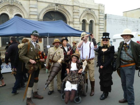 I love the extremes some people go to for Victorian Fete and steam punk weekend in Oamaru, New Ze...