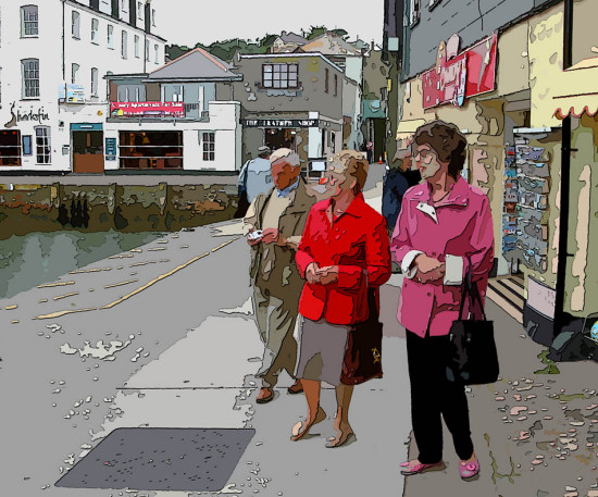 Manipulated Cornwall UK Mevagissey