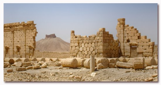 syria palmyra architecture temple ruins syrix palmx archs temps casts