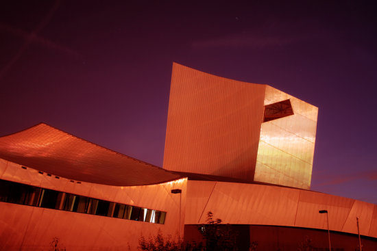 Landscape Imperial War Museum Salford Quays Manchester uk Architecture