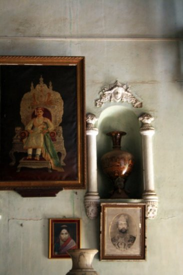 niche artefacts paintings wall sawantwadi palace maharashtra durbar