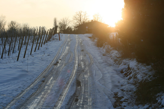 sunset snow winter moselle luxembourg