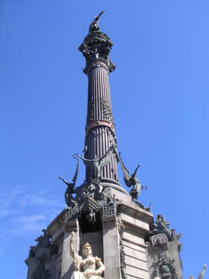 Christopher Columbus Monument in Barcelona