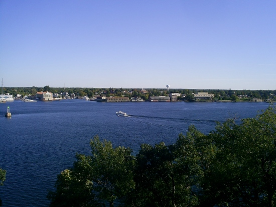 Looking out over Alexandria Bay in the 1000 Islands, NY.
