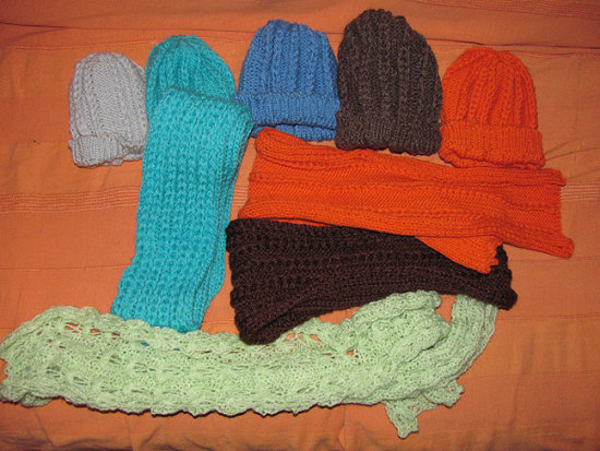 The hats and shawls for charity