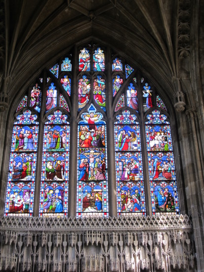 August 2012 - Summer Break   56. Still in Christchurch Priory - the window in the Lady Chapel