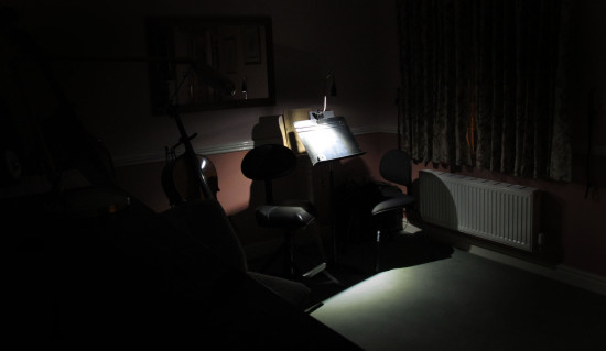 It's been far too long since my last upload so here is Sheila's Music Room. lit only by a light o...