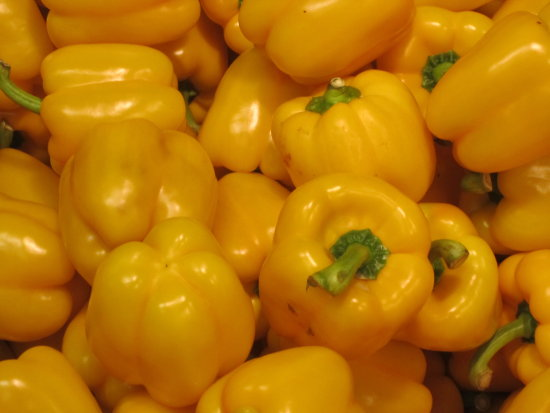 The yellow peppers