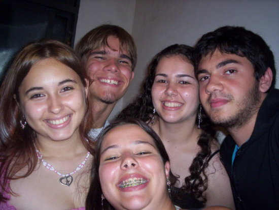 In this photo are: Me and my love behind meand my cousin Gabi, Dani and Gustavo.